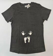 Introspect Maternity Baby Footprints Printed T-Shirt Women's Size X Large Black