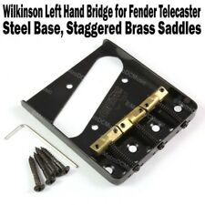 Wilkinson Lefty Black Telecaster Bridge Brass Saddles Tele Left Hand WTBBK LH