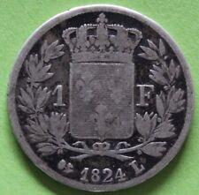 FRANCE 1 FRANC LOUIS XVIII 1824 L