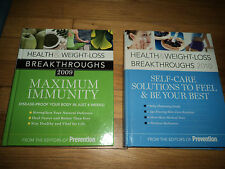 2 Health & Weight Loss Books Self-care Solutions AND Maximum Immunity Prevention