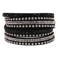 Women Bohemian Leather Slake Bracelet Woven Braided Handmade Wrap