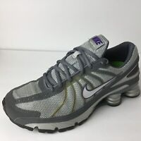 Nike Womens Shox Turbo VII Running Shoes Gray 324749-052 Lace Up Low Top 8 M