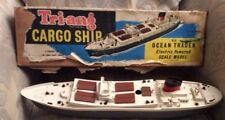 "Rare 1950's TRI-ANG Cargo Ship ""M.S. Ocean Trader"" Electric Powered Scale Model"