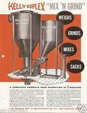 Farm Equipment Brochure - Kelly Duplex - Mix 'N Grind Feed Machine (F3390)