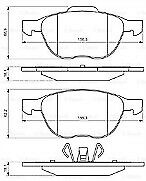 Bosch Brake Pad 0986495215 Fits Ford Focus - 1.6 - 04-12
