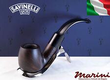 Pipa Pipe Capitol Bruyere by Savinelli radica verniciata scura curva 613 9mm