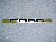 FORD LOGO PLATE BRASS PLATED POLISHED NEW WITH ADHESIVE BACKING LICENSE PLATE