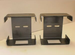 """Pair of Steel Tail Brake Light Guard Square Box Trailer Truck Over 80"""""""