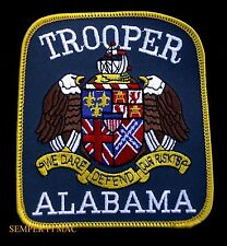 TROOPER ALABAMA SHOULDER IRON ON PATCH WE DARE DEFEND OUR RISKS COLLECTIBLE USE!