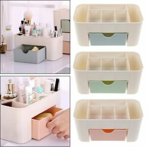 Womens Desktop Makeup Brush Holder Organizer Box Drawer Storage Jewellery Case