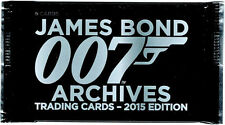 James Bond Archives 2015 Factory Sealed Pack of 5 Trading Cards
