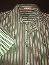 Mens Paul Smith London Dress Shirt Signature Striped Button or French Cuff Large