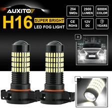 "102-SMD ""ULTRA BRIGHT"" 5202 H16 CREE LED Fog Lights Driving DRL 6000K 2800LM X2"
