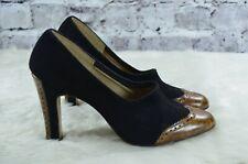 New listing vintage 1940s 40s Lou Golard Salon Shoes black suede leather pumps heels 5.5