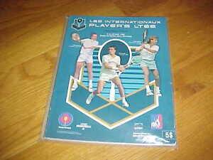 1989  Les Internationaux Players Tennis Program John McEnroe Cover Montreal