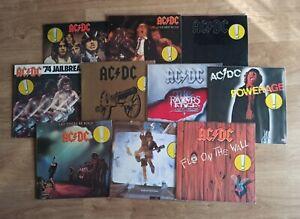AC/DC Lot Job 10 Vinyl LP, Europe Edition Heavy Guns n' Roses Metallica