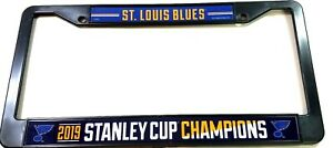 St. Louis Blues Stanley Cup  License Plate  Frame  2019 Plastic Fast ship