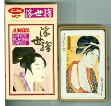 "Sealed Deck, Japanese ""Ukiyoe"", Playing Cards, by Angel, Green"