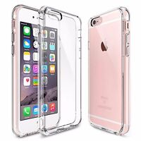 For Apple iPhone 6S/6 Case Clear Hybrid Slim Shockproof Soft TPU Bumper Case