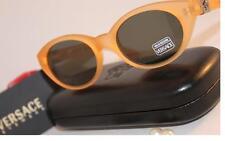 New~GIANNI VERSACE~Logo~$428~ORANGE Yellow Silver~Sunglasses~290/A 631~Vintage