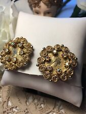Vintage South African Coin Earrings 1958 Elizabeth ll Ornate Clips