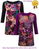 New Ladies Floral Print Satin Front Top Smart & Fancy UK Size 6 - 20
