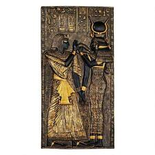 Egyptian Goddess Isis Relief Frieze Plaque Wall Sculpture Replica Reproduction