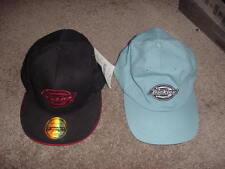 VINTAGE DICKIES BASEBALL CAP HAT 90s 80s   XL LIGHT BLUE BLACK/RED LOT OF 2 NOS