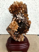 1640g Clear Natural Beautiful Red QUARTZ Crystal Cluster Specimen healing
