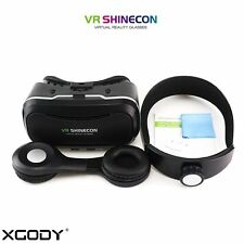 New VR Shinecon 4.0 Google Virtual Reality 3D Glasses with Detactable Headphone