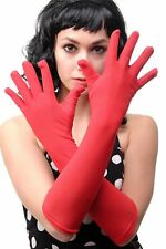 Carnival Ladies' Gloves Long Red Burlesque DWS-019-RED