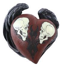 Love Never Dies Skull Couple Jewelry Box Sculpture Halloween Horror Decorative