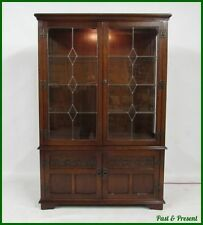 Old Charm Oak Display Cabinets