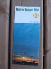 MONTREAL AEROPORT AIRPORT HILTON DORVAL QUEBEC CANADA BROCHURE FLYER TRAVEL 1968
