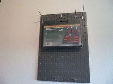 Set 3 Lochwände Hakensatz 14 Teile+Elektro Schraubendreher und Zangenset