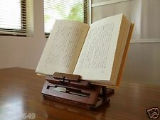 Portable Folding Book Rest Stand Rack Holder Ipad Tablet Wooden Made in JPN F/S