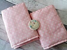 Baby Pink Polka Dot Cot Bar Bumper Wraps pack of 8