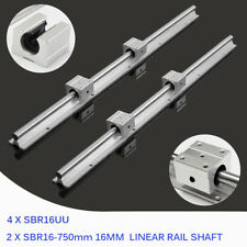 4X SBR16UU Block für CNC 2X SBR16 400mm Linearwelle Slide Rail Shaft