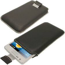 Black Napa Leather Pouch for Samsung Galaxy S2 II i9100 Android Case Cover
