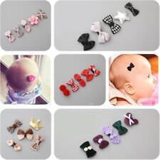 5 pièces épingle à cheveux bébé fille Pince Noeud Fleur mini barrettes ensemble