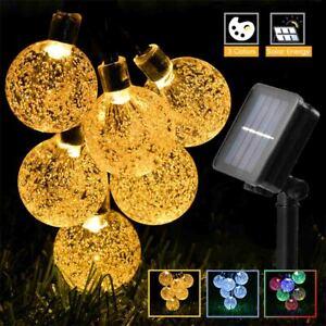 8 Modes String Lights Outdoor Solar Powered Patio Light for Garden Party Decor