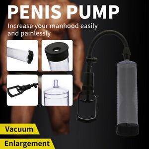 Penis Pump Sleeve Enlarger Stretcher Cylinder Enlargement Vacuum Pump Extender