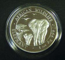 2015 Somalian African Elephant 1oz Silver Bullion Coin 100 Schillings