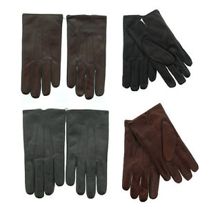 Coach 82863 Men's Nappa Leather Basic Winter Driving Gloves, Cashmere Lined $128