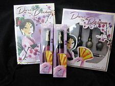 elf Mulan Dare to Dream beauty book, eyeliner set, 2 lip gloss Disney lot