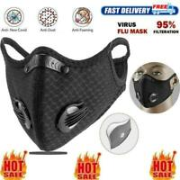 Cycling Protective Mouth-muffle Face Shield Haze Fog Mouth Cover With Filter pad