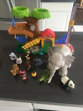 Zoo Tree House and Talking Elephant Lot Including Animals And Little People .