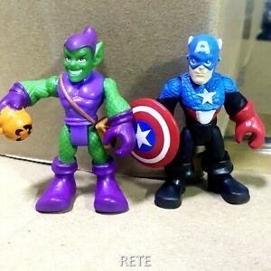 Playskool Marvel Super Hero Adventures Green Goblin & Captain America Figure