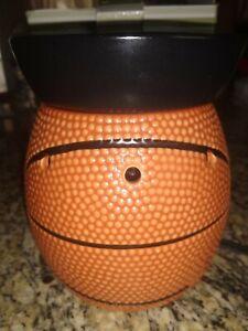 Scentsy Full Court Basketball Full Size Warmer Textured Orange W/ Black