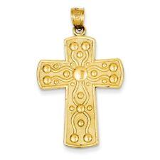 14kt Yellow Gold Cross W/ Serenity Prayer Pendant/Charm 4.02 GMS